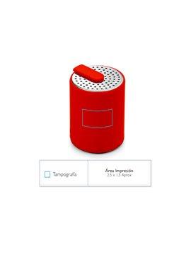 Altavoz Bocina Parlante Bluetooth Shell Elaborado en ABS - Plateado