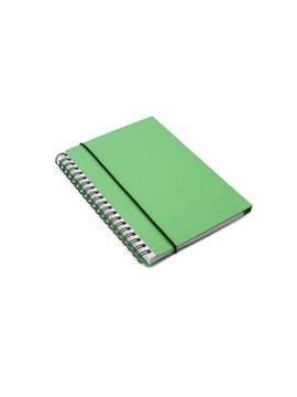 Cuaderno Libreta Single Cubierta Carton Banda Elastica - Verde Limon