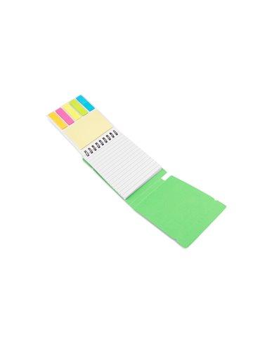 Cuaderno Libreta Plain 60 hojas Banda Elastica Memos - Verde Limon