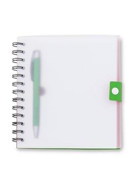 Cuaderno Libreta Elemental 40 Hojas y Adhesivos Tamaño A6 - Naranja