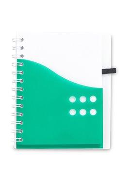 Cuaderno Libreta Dual Band Cubierta en PU 80 Hojas A6 - Rojo