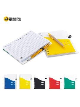 Cuaderno Libreta Dual Band Cubierta en PU 80 Hojas A6 - Negro