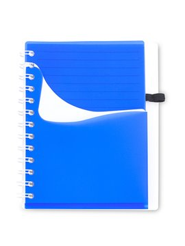 Cuaderno Libreta Dual Band Cubierta en PU 80 Hojas A6 - Naranja