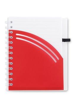 Cuaderno Libreta Cover Mix Cubierta en Algodón 80 Hojas - Rojo