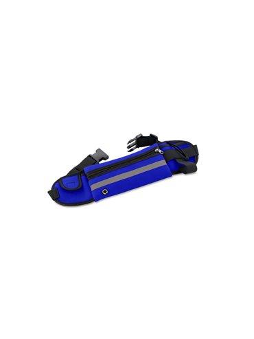 Canguro Reflectivo en Poliester con Bolsillo - Azul