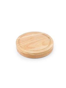 Set de Quesos Cheddar 3 Cuchillos y Tabla en Madera - Bamboo