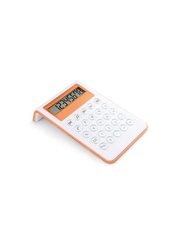 Calculadora Genius Elaborada en Plastico 12 Digitos - Naranja
