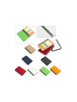 Cuaderno Libreta Ecologica Teen 40 Hojas Tamaño A7 Adhesivos - Rojo