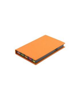 Memo Relative Cubierta Carton Grueso Con Set de Adhesivos - Naranja