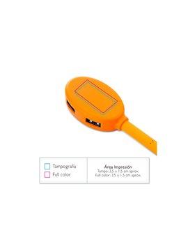Multiconector Set de Carga Frail con Gancho Carabinero - Naranja