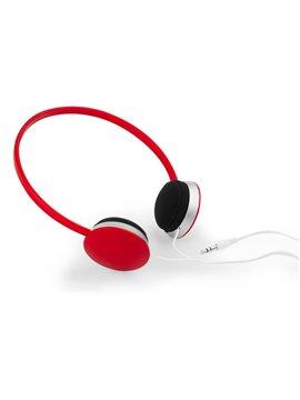 Audifonos Record Almohadillas en Espuma Elaborados en ABS - Rojo