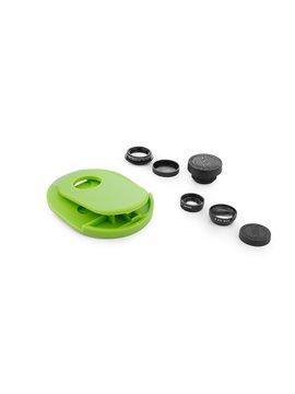 Set de Lentes para Celular Rotary en ABS Ojo de Pez 3 en 1 - Verde Limon