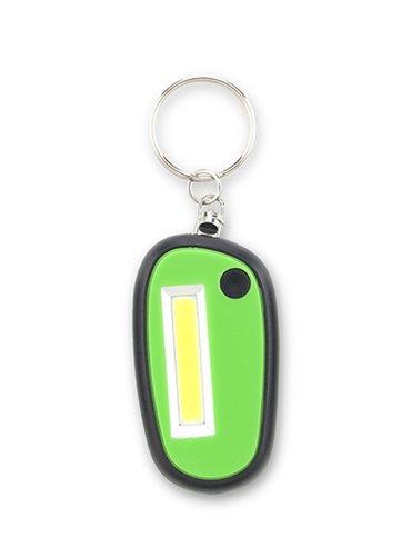 Llavero Linterna Dos Modos de Luz Fija e Intermitente - Verde