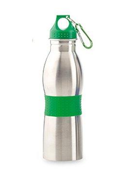 Botella Botilito Metalico Fleming 600ml Gancho Carabinero - Verde