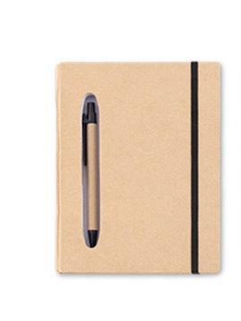 Cuaderno Libreta en Carton Stapp Con Boligrafo - Negro