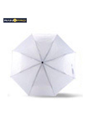 Sombrilla Mini Paraguas Cameron 8 Cascos Poliester Manual - Blanco