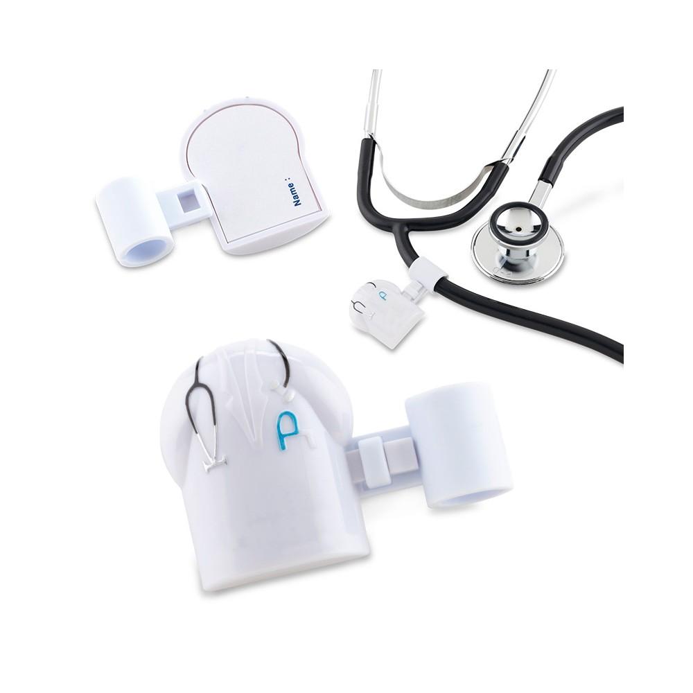 Identificador Para Estetoscopio Medic en Plastico - Blanco