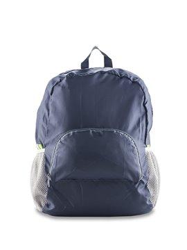 Maleta Morral Backpack Plegable Molly en Poliester - Azul Oscuro