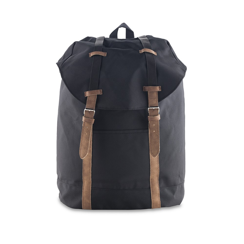 Maleta Morral Backpack Jeremy en Poliester Alta Calidad - Negro