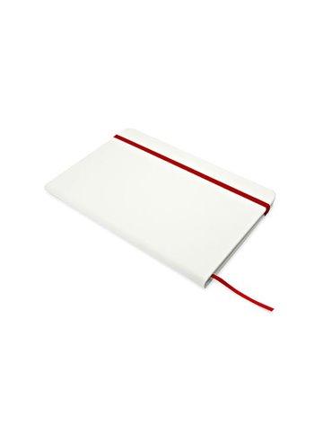Cuaderno Bloc Libreta Fad Cubierta en PU 80 Hojas Tamaño A5 - Rojo