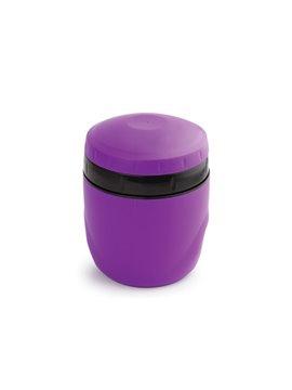 Porta Comida Jar Con Doble Capa de Plastico y Cuchara 350 ml - Morado