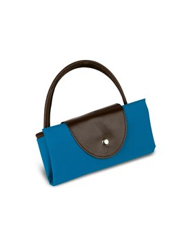 Bolsos Plegables Con Cremallera Hechos En Poliester - Azul Marino