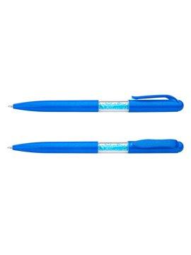 Esfero Boligrafo Cono en Plastico Retractil Incluye Iman - Azul