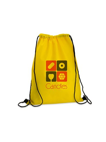 Logan Bag Bolsa Tula Mochila con cordon para ajustar - Amarillo