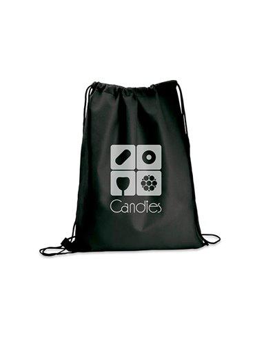 Logan Bag Bolsa Tula Mochila con cordon para ajustar - Negro