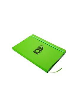 Agenda Libreta Neon Cubierta PU con Hojas A5 - Verde Limon