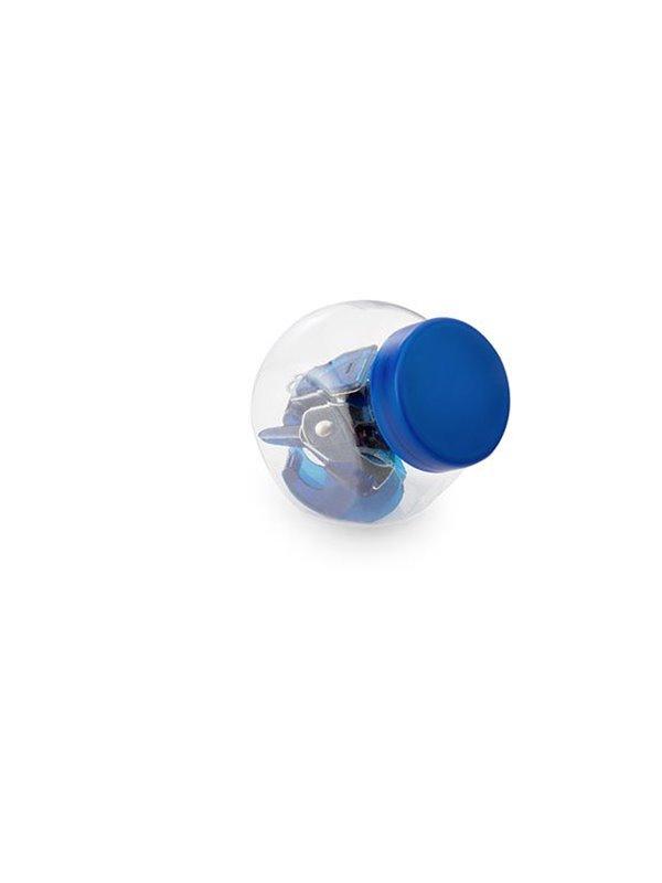 Estuche Set De Escritorio Jar con Tijeras y Cosedora en ABS - Azul Rey