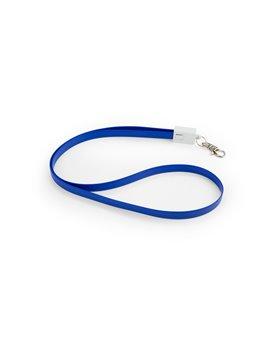 Cable 2 en 1 Carga USB Dispositivos iphone Incluye Gancho - Azul Rey