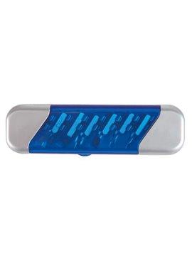 Desarmador Highlander en Plastico con 6 Puntas de Desarmador - Azul Translucido