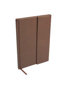 Libreta Bok en curpiel incluye broche magnetico y 80 hojas - Cafe