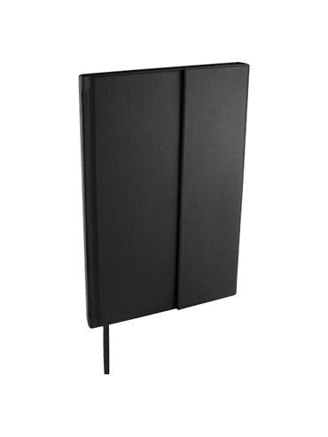 Libreta Bok en curpiel incluye broche magnetico y 80 hojas - Negro