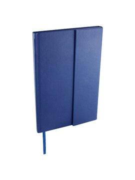 Libreta Bok en curpiel incluye broche magnetico y 80 hojas - Azul