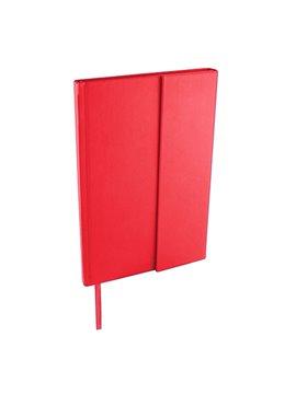 Libreta Bok en curpiel incluye broche magnetico y 80 hojas - Rojo