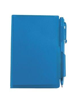 Block De Notas Con Boligrafo en Plastico Contiene 60 Hojas - Azul