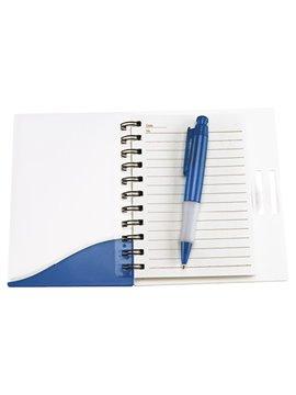 Bloc Libreta Fresh Plastico Incluye Boligrafo con 100 Hojas - Azul