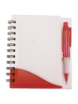 Bloc Libreta Fresh Plastico Incluye Boligrafo con 100 Hojas - Rojo