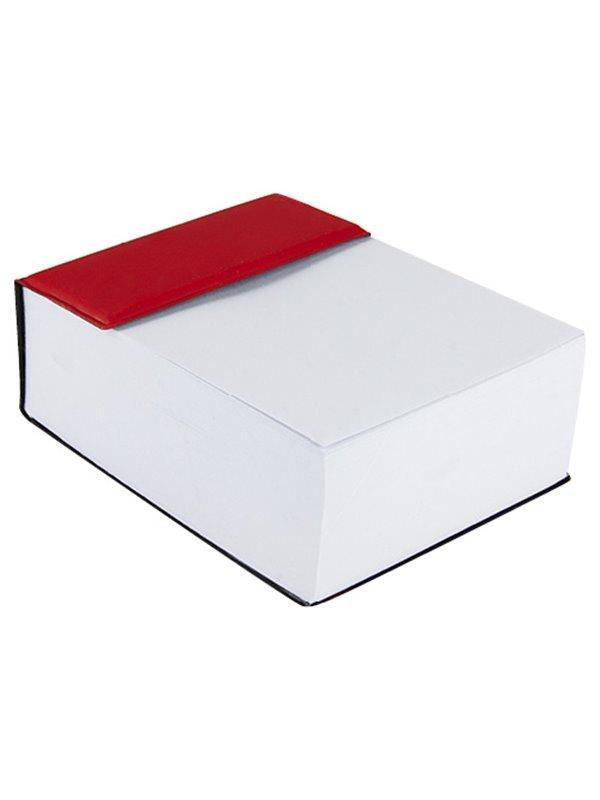 Block De Notas Addar en PVC Incluye 400 Hojas de Notas - Rojo