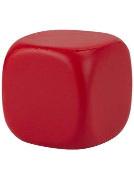 Cubo Liso Antiestres Elaborada en PU - Rojo
