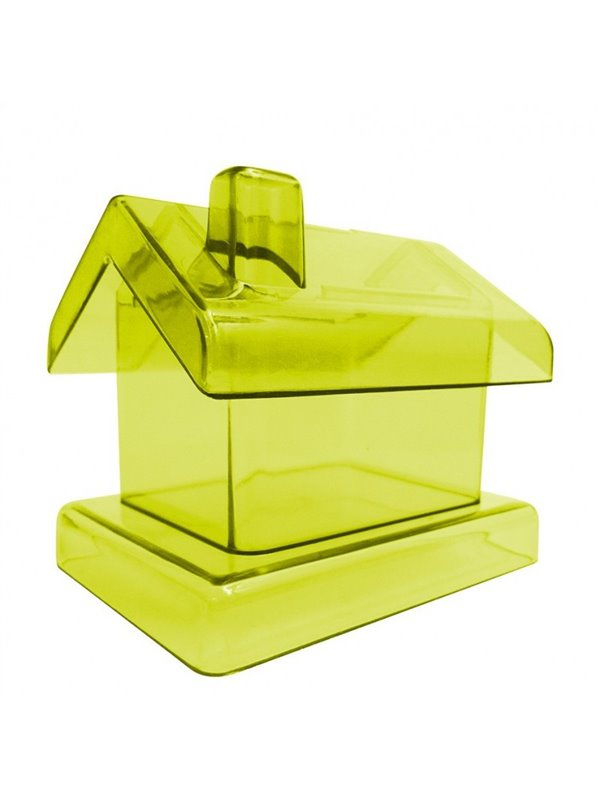 Alcancia Casa Transparente - Amarillo