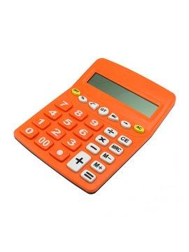 Calculadora Elaborado en Plastico Pila AA No incluida - Naranja