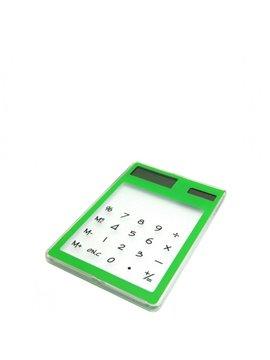 Calculadora Cristal Funciona con Energia Solar - Verde Claro