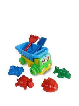 Juguete Camion Playero con Accesorios y Moldes de Arena - Multicolor