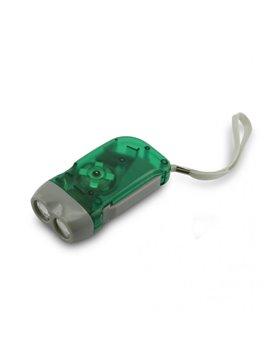 Linterna Dinamo No Requiere Baterias Incluye Luces Leds - Verde