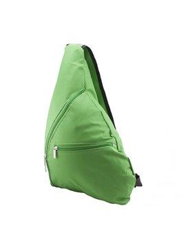 Bolso Morral Triangular Elaborado en Lona Bolsillo Tirante - Verde Claro