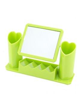 Organizador con Espejo Giratorio Elaborado en Plastico - Verde Claro