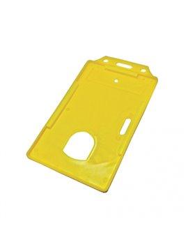 Porta Carnet en Plastico Uso Vertical - Amarillo
